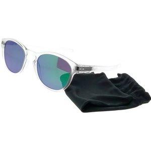 OO9265-13 Men's Clear Frame Jade Lens Sunglasses